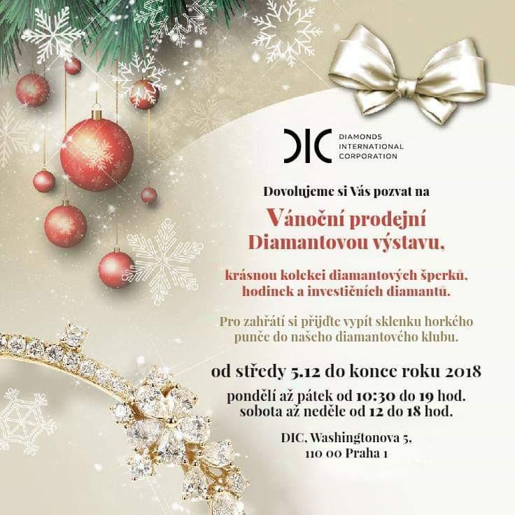 Srdečně Vás zveme na vánoční prodejní Diamantovou výstavu e0435dbe97